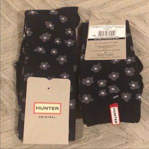 Hunter Knee High Floral Print Tall Socks Sz M/L